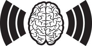 Cerebro con la onda Fotografía de archivo