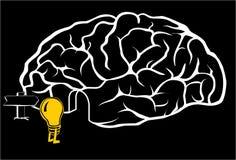 Cerebro con una nueva idea ilustración del vector