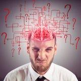 Cerebro confuso imágenes de archivo libres de regalías
