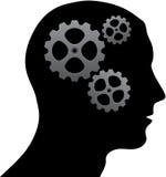 Cerebro de engranajes Fotografía de archivo libre de regalías