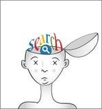 Cerebro de Googlized Fotografía de archivo libre de regalías
