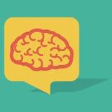 Cerebro de la burbuja de la charla Fotos de archivo libres de regalías