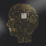 Cerebro de la CPU ai Imagen de archivo