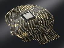 Cerebro de la CPU ai Fotos de archivo libres de regalías