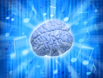 Cerebro de la creatividad de la música Imagen de archivo