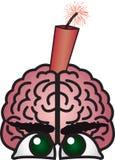 Cerebro de la dinamita Foto de archivo libre de regalías