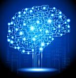 Cerebro de la inteligencia artificial Imagen de archivo libre de regalías