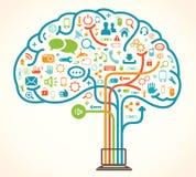 Cerebro del árbol de la red Fotos de archivo libres de regalías