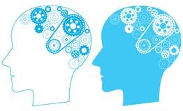 Cerebro del engranaje stock de ilustración