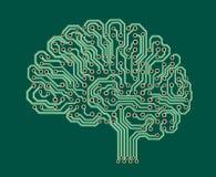 Cerebro electrónico Fotografía de archivo libre de regalías