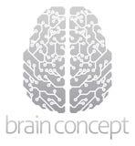 Cerebro electrónico abstracto Imágenes de archivo libres de regalías