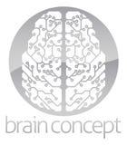 Cerebro electrónico del círculo abstracto Foto de archivo libre de regalías