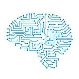 Cerebro humano con los enlaces de los nervios - vector común de la tecnología creativa libre illustration