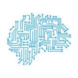 Cerebro humano de la tecnología creativa con los enlaces de los nervios - para la acción stock de ilustración
