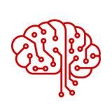 Cerebro humano de la tecnología creativa con los enlaces de los nervios - para la acción ilustración del vector