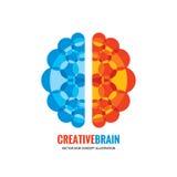 Cerebro humano - vector el ejemplo del concepto de la plantilla del logotipo ilustración del vector