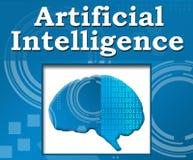 Cerebro irritable del fondo de la inteligencia artificial Fotografía de archivo libre de regalías