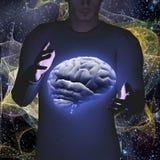 Cerebro que controla Foto de archivo libre de regalías