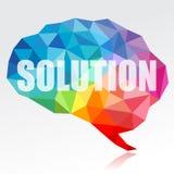 Cerebro y solución stock de ilustración