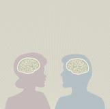 Cerebros de pensamiento Fotografía de archivo libre de regalías