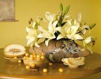 Cereja doce e melão Fotografia de Stock