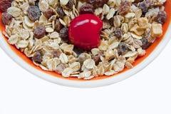 Cereja doce no muesli Imagem de Stock