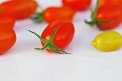 Cereja dos tomates Imagem de Stock