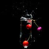 Cereja em um copo Imagem de Stock Royalty Free