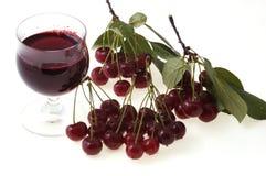 Cereja fresca do suco que Imagem de Stock