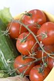 Cereja fresca dos tomates Imagem de Stock