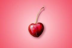 Cereja Heart-shaped fotografia de stock royalty free