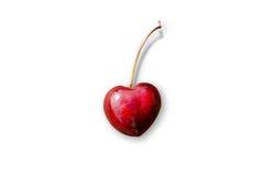 Cereja Heart-shaped imagem de stock royalty free