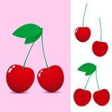 Cereja vermelha ilustração stock
