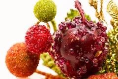 Cereja vermelha com gota da água Foto de Stock Royalty Free