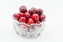 Cerejas do copo Imagem de Stock Royalty Free