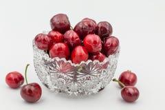 Cerejas do copo Imagens de Stock