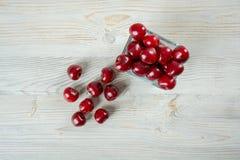 Cerejas doces e frescas Foto de Stock Royalty Free