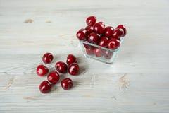 Cerejas doces e frescas Fotografia de Stock