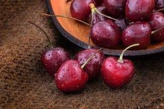 Cerejas doces orgânicas Imagens de Stock Royalty Free