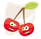 Cerejas felizes Imagem de Stock