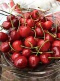 Cerejas frescas Imagem de Stock Royalty Free