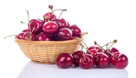 Cerejas frescas saborosos Fotos de Stock