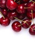 Cerejas frescas vermelhas foto de stock