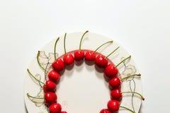Cerejas maduras e deliciosas Fotos de Stock Royalty Free