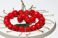 Cerejas maduras e deliciosas Foto de Stock Royalty Free