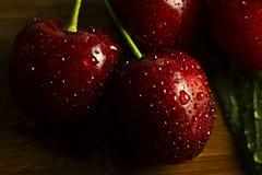Cerejas maduras e doces Foto de Stock Royalty Free