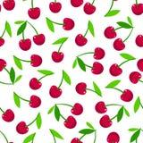 Cerejas maduras sem emenda ilustração stock