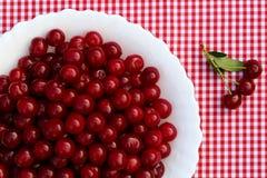 Cerejas maduras vermelhas imagem de stock
