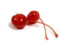 Cerejas vermelhas Foto de Stock Royalty Free
