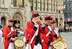 Ceremoni av kolonin av Meyboom i Bryssel Arkivfoto